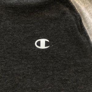 2ef10179 Champion Shirts - Vintage Men's Champion Active Hoodie // Grey